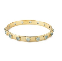 Margaret Elizabeth Sixteen Stone Bangle in Aqua