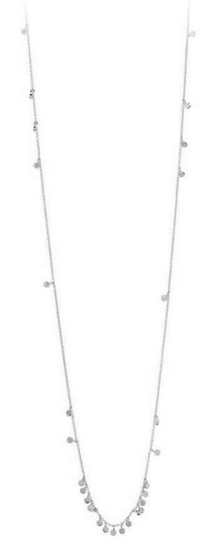 Gorjana Chloe Mini Long Necklace in Silver