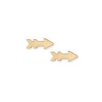 Kris Nations Arrow Stud Earrings in Gold