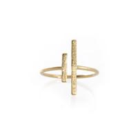 Wanderlust + Co Double-Box Split Gold Ring