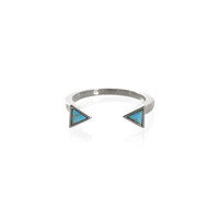 Wanderlust + Co Dusk To Dawn Turquoise Ring in Silver