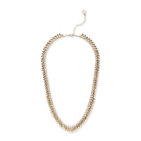 House of Harlow 1960 Pyramid Fringe Bar Necklace
