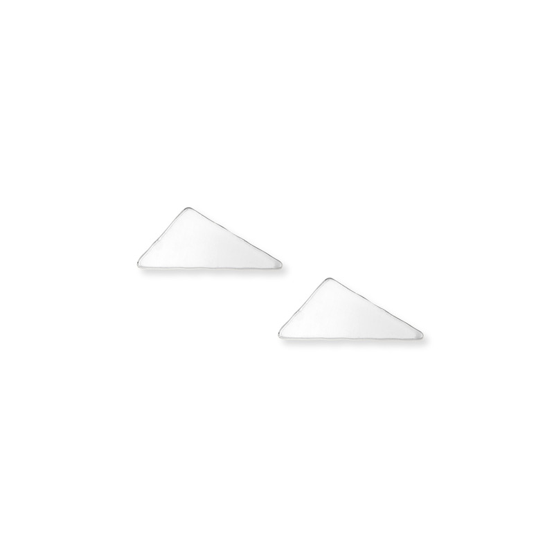 Kris Nations Obtuse Triangle Stud Earrings in Silver