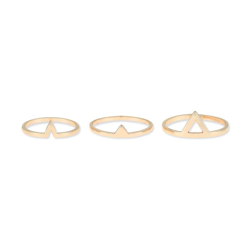 Sophie Harper Triangle Ring Set