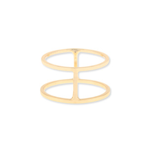Sophie Harper Double Bar Ring in Gold