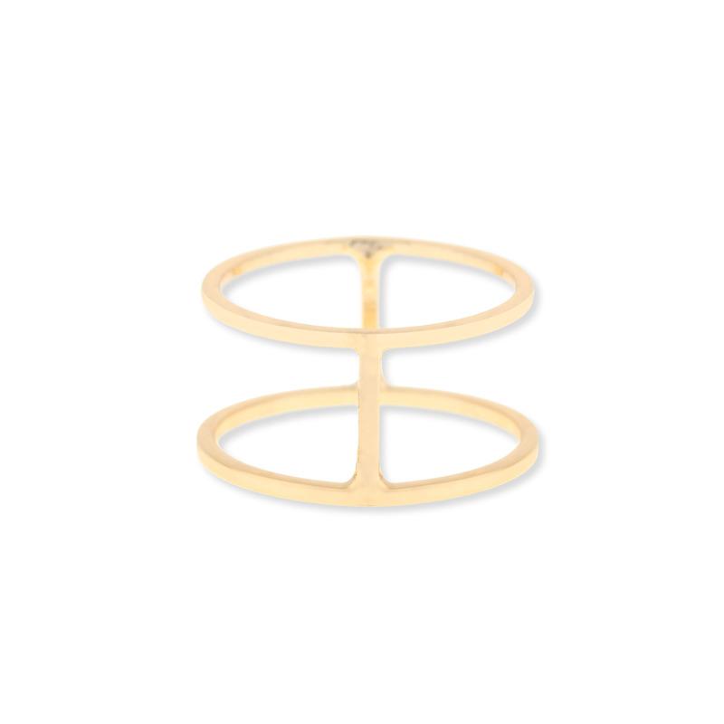 Sophie Harper Double Bar Ring in Gold