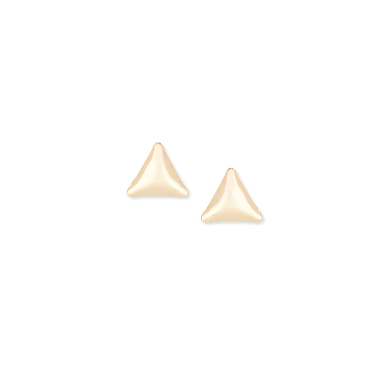 Sophie Harper Triangle Pyramid Studs in Gold