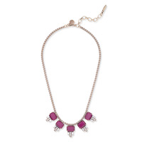 Loren Hope Alex Petite Necklace in Merlot