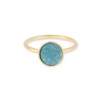 Leslie Francesca Circle Druzy Ring in Blue