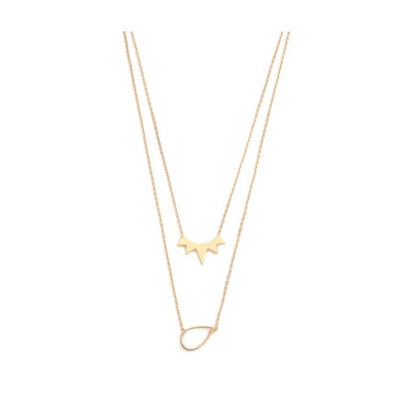 Jules Smith The Muse Layered Necklace in Gold