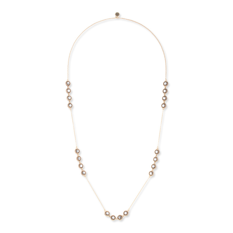 House of Harlow 1960 Cuzco Station Necklace in Howlite