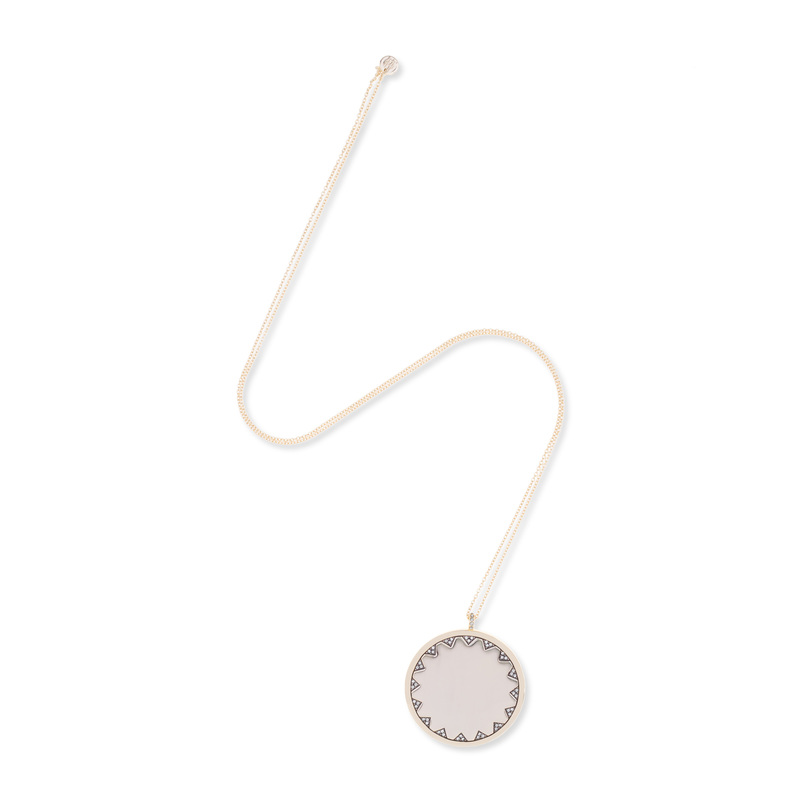 House of Harlow 1960 Incan Sun Coin Long Pendant Necklace