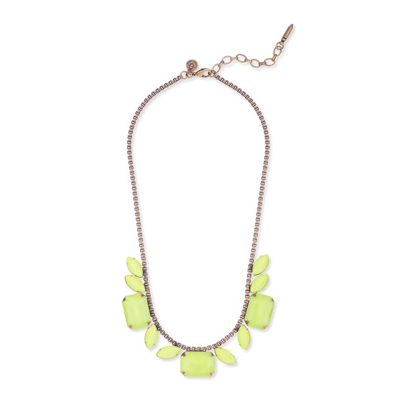 Loren Hope Blythe Necklace in Neon Yellow