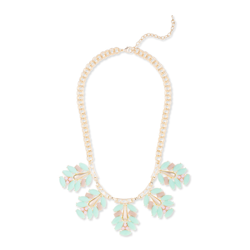Urban Gem Claire Necklace in Mint