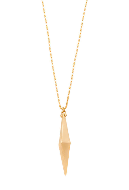 Trina Turk Elongated Triangle Necklace