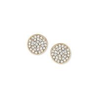 a.v. max Rhinestone Disc Post Earrings in Gold