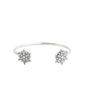Loren Hope Starburst Reverse Cuff in Silver
