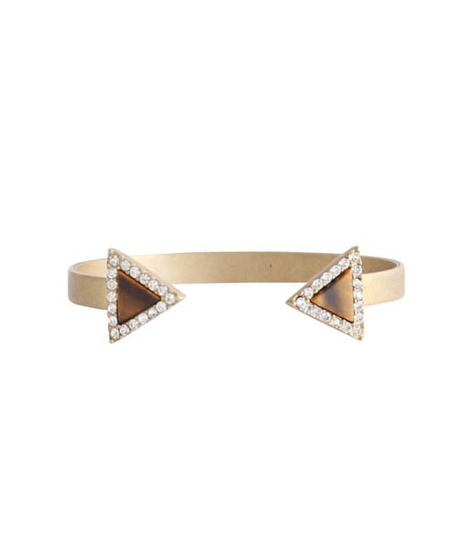 Loren Hope Venus Reverse Cuff in Tiger's Eye