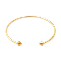 Wanderlust + Co Double Spike Gold Cuff