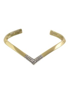 House of Harlow 1960 Defined Deco Angled Cuff in White