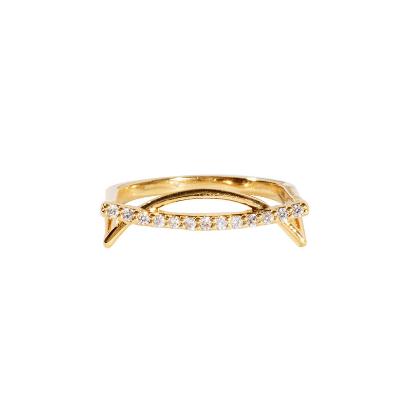 Wanderlust + Co Helix Gold Ring