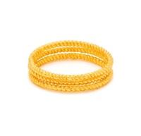 Gorjana G Ring Rope Texture (Set of 3)