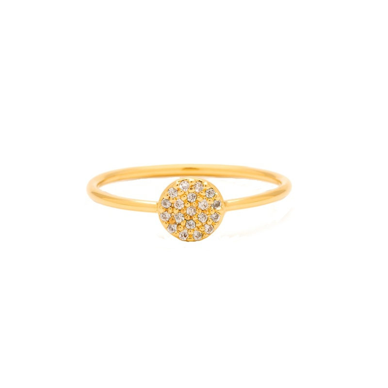 Gorjana Shimmer Disc Ring in Gold