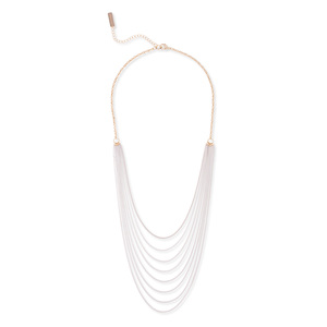 SLATE White Layered Chain Necklace