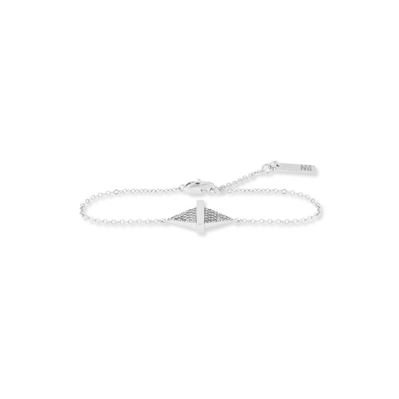 Nicole Meng Balance Bracelet in Platinum