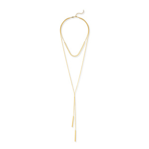 a.v. max Mock Lariat Necklace in Gold
