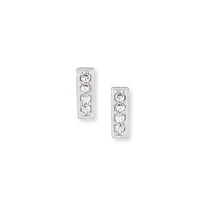 Gorjana Mave Shimmer Mini Studs in Silver