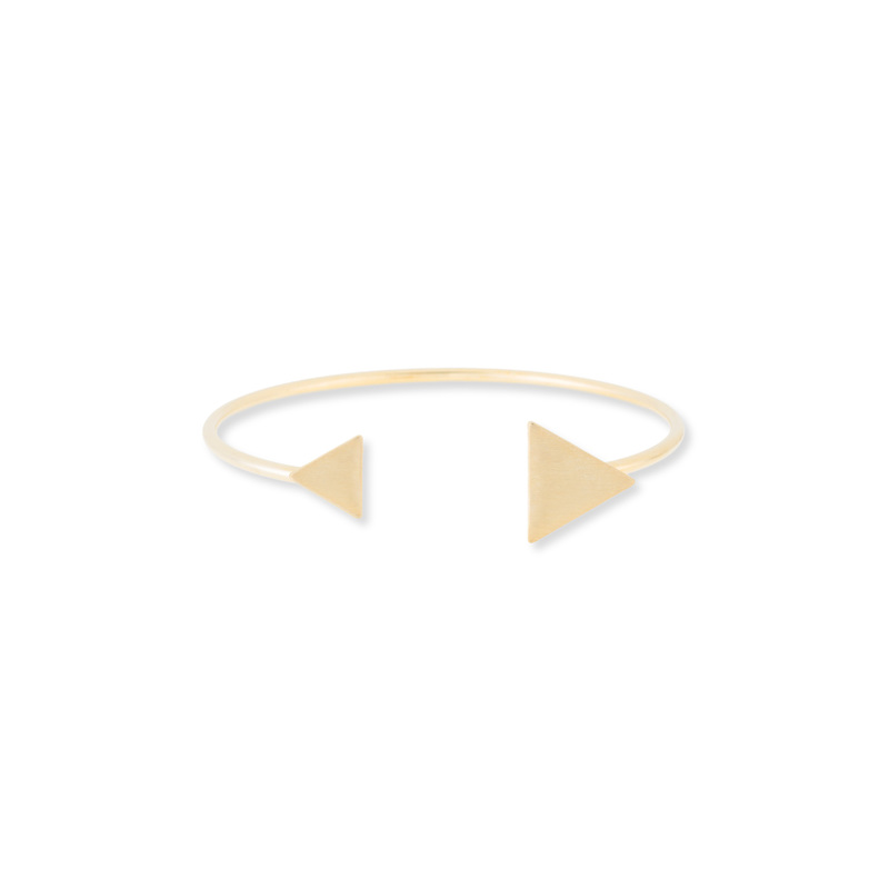 Jill Michael Double Triangle Cuff in Gold
