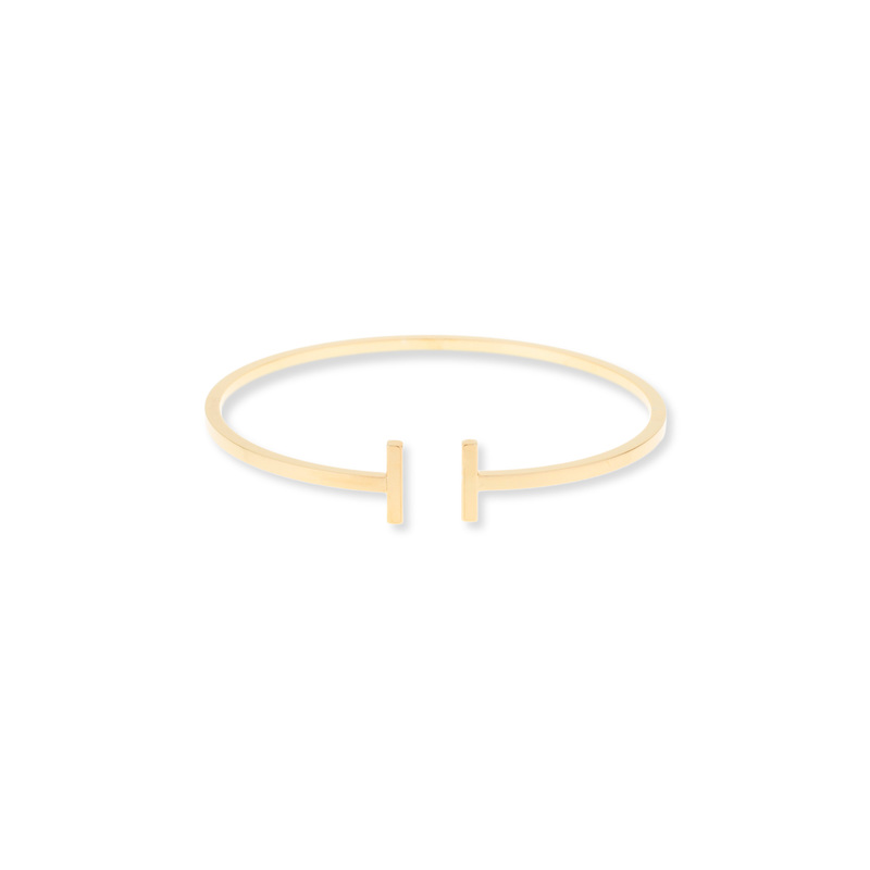 Jill Michael Delicate T Bar Cuff in Gold