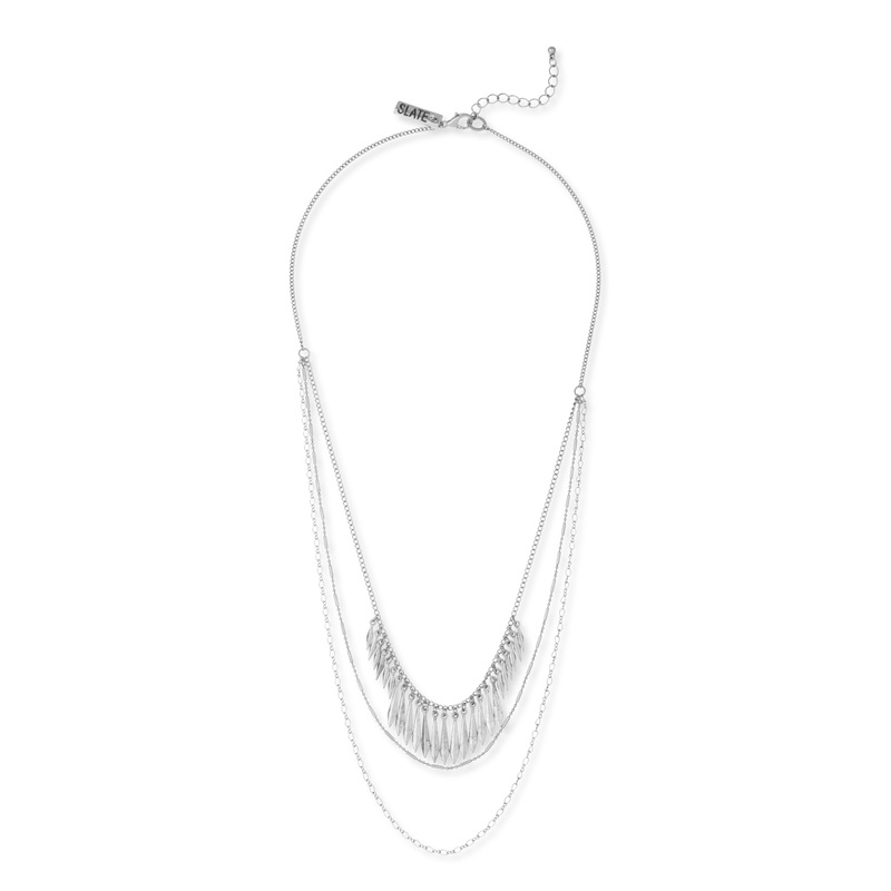 SLATE Maya Necklace in Silver