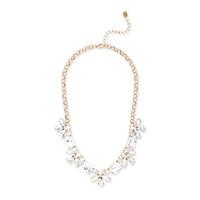 Sharp 9 Crystal Flower Necklace