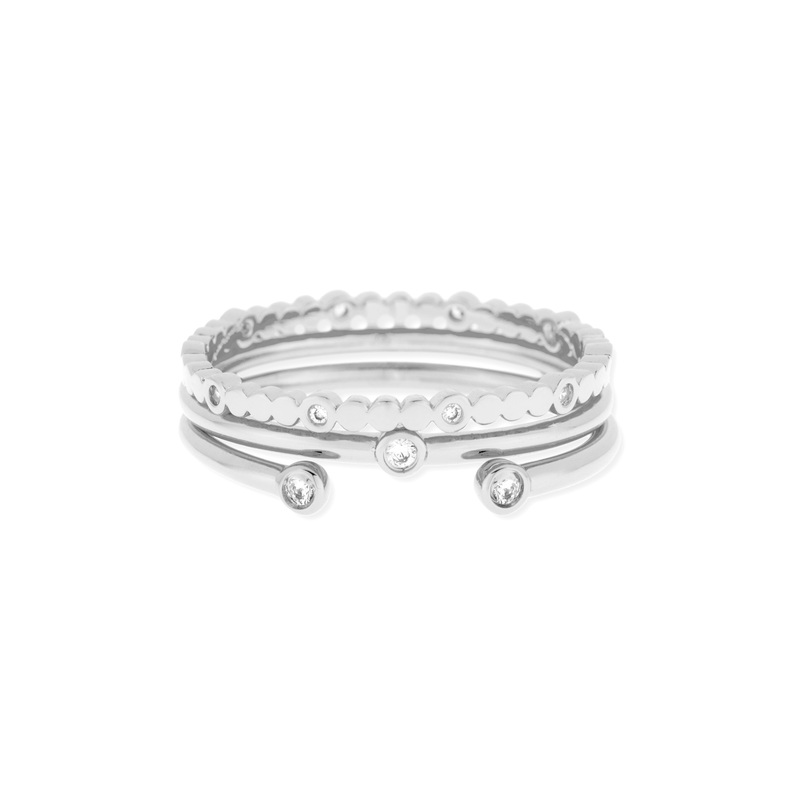 Gorjana Medley Ring Set in Silver