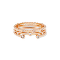 Gorjana Medley Ring Set in Rose Gold