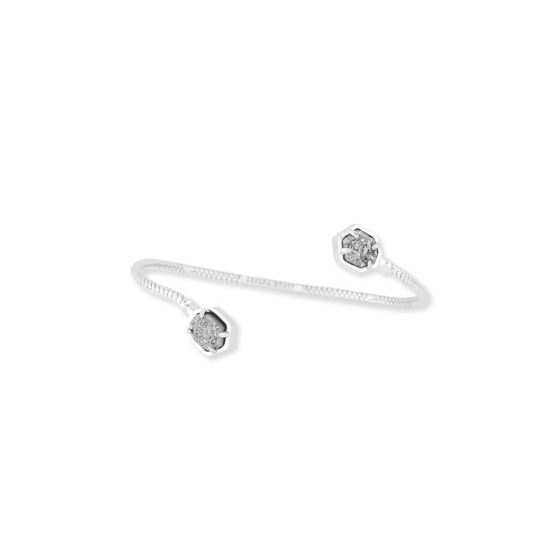 Kendra Scott Jamie Silver Bracelet in Platinum Drusy
