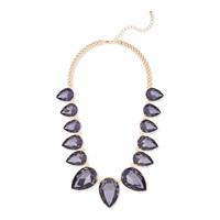 Urban Gem Crystal Bib Necklace in Gold