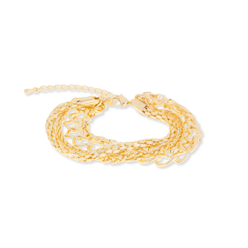 Jill Michael Layered Chain Bracelet in Gold