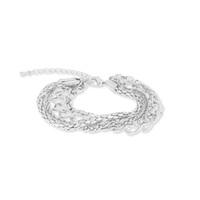 Jill Michael Layered Chain Bracelet in Silver