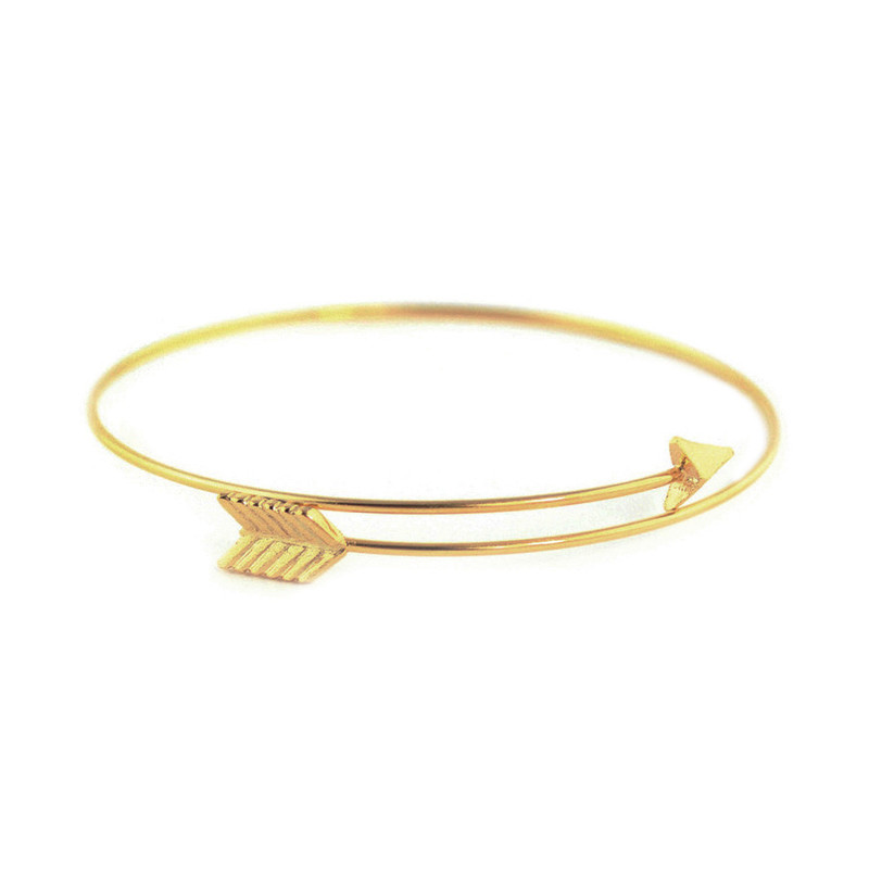 Wanderlust + Co Arrow-Split Gold Cuff