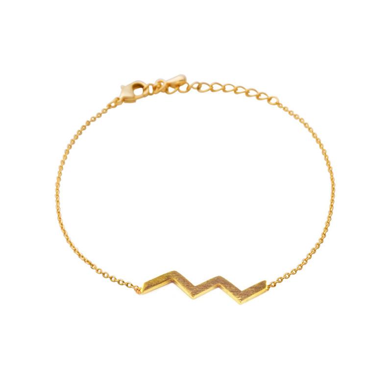 Wanderlust + Co Zig-Zag Gold Bracelet