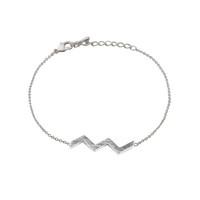 Wanderlust + Co Zig-Zag Silver Bracelet