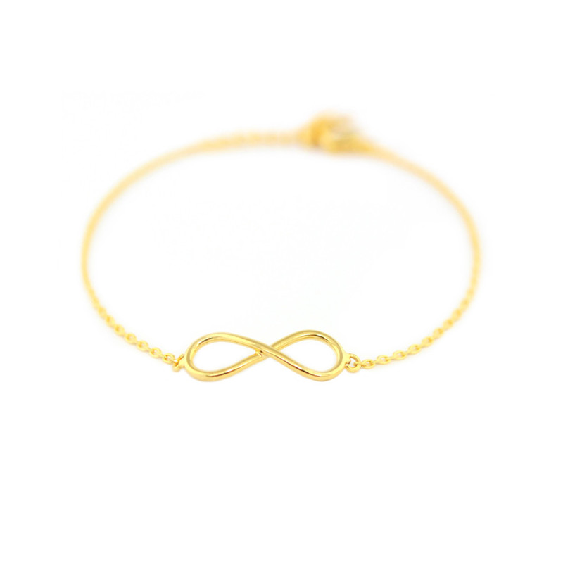 Wanderlust + Co Infinity Bracelet in Gold
