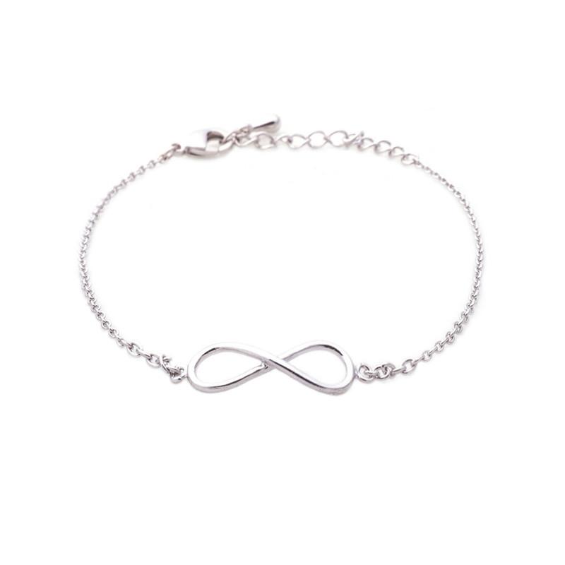 Wanderlust + Co Infinity Bracelet in Silver