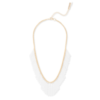 SLATE White Chain Fringe Necklace
