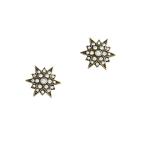 Loren Hope Starburst Studs in Gold