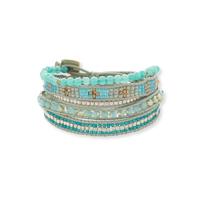 Nakamol Turquoise  Bead Wrap Bracelet