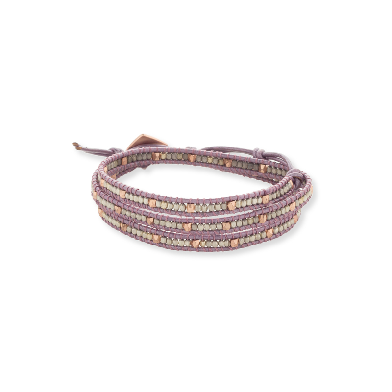 Nakamol Purple Wrap Bracelet